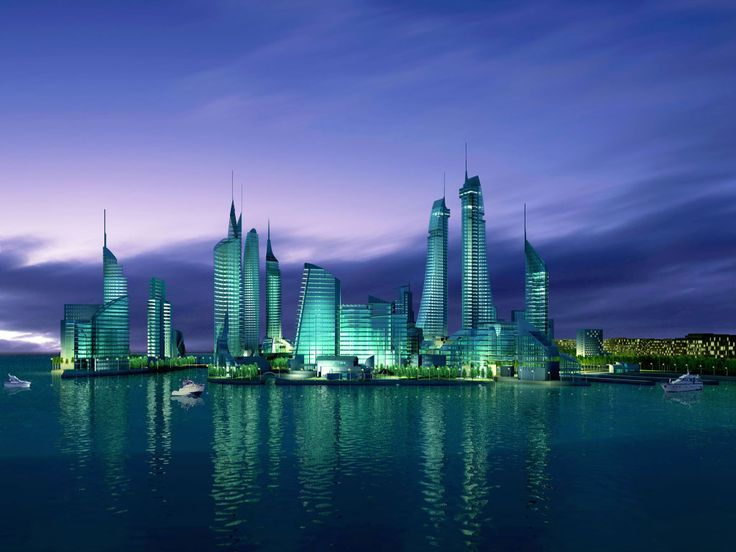 Skyline of Manama, Bahrain. Manama is the capital and largest city of Bahrain. Long an important trading center in the Persian Gulf, Manama is home to a very diverse population.