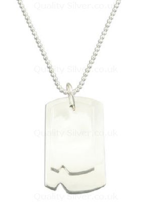 Men's Silver Duo Dog Tags