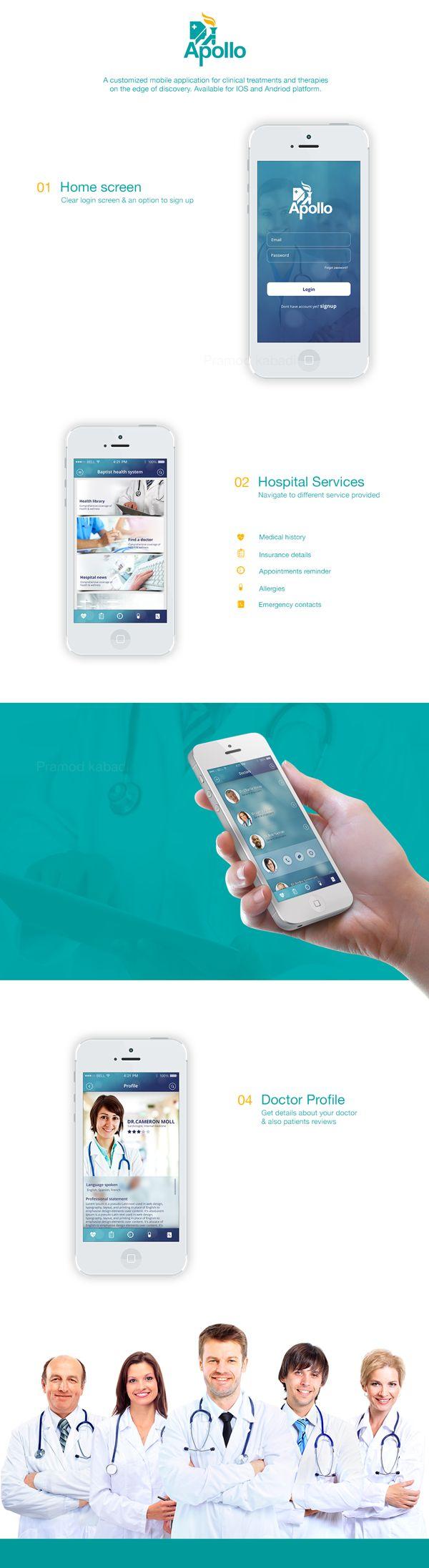 POC for a hospital services app on Behance