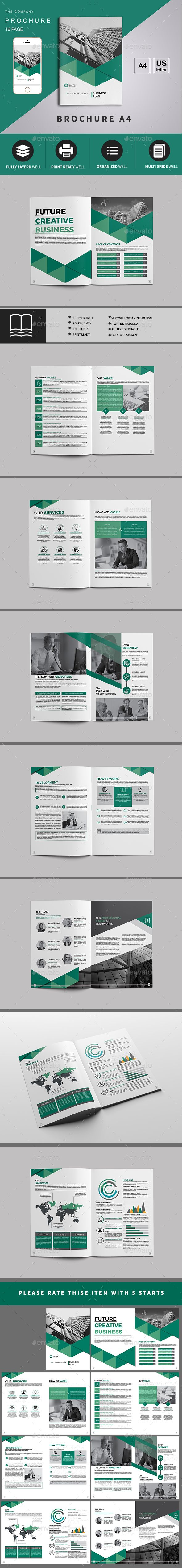 BROCHURE 16 PAGE — InDesign INDD #company #psd • Download ➝ https://graphicriver.net/item/brochure-16-page/19555808?ref=pxcr