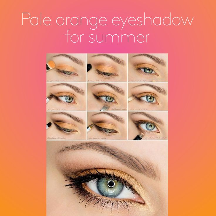 Looking for a different look this summer? Try a pale orange eyeshadow! Follow this simple tutorial to get the look! #TutorialTuesday #StayAmazing #makeup