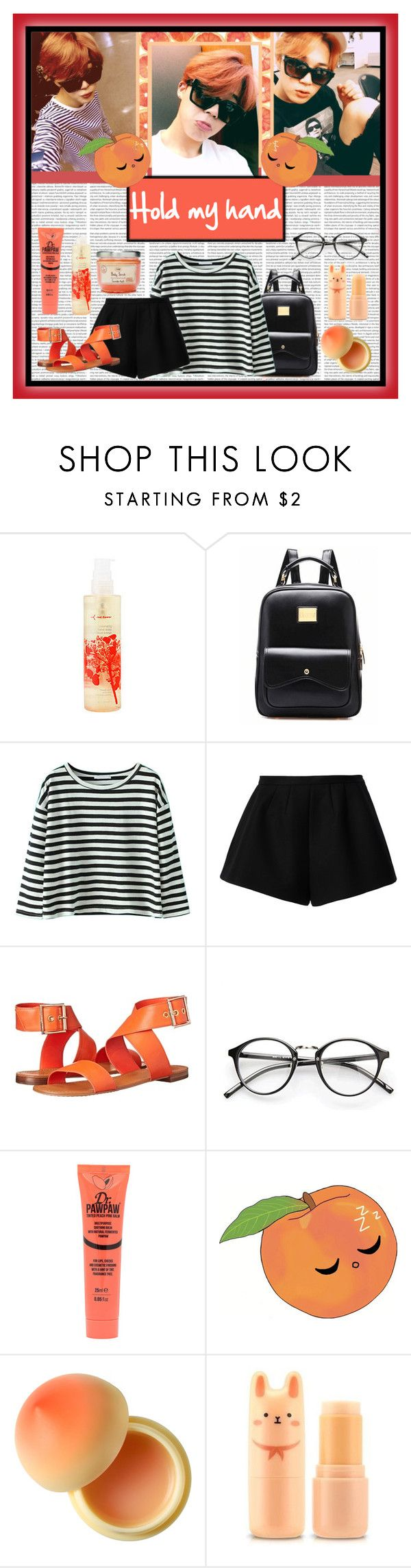 """#213 - Jimin"" by bangtan-life ❤ liked on Polyvore featuring red flower, RED Valentino, Vince Camuto, Dr. Paw Paw, Tony Moly, kpop, bts, BangtanBoys and jimin"