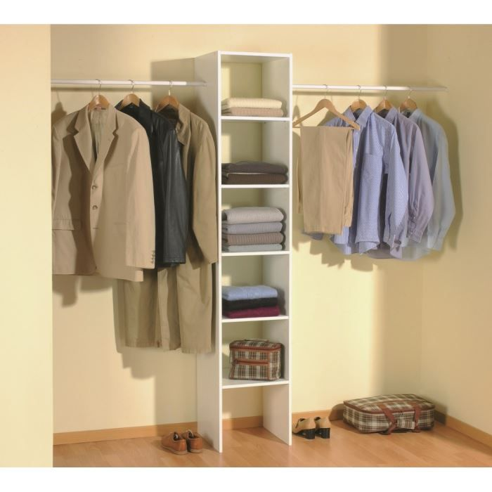 SKIRT Kit placard extensible 140/240cm blanc - Achat / Vente DRESSING - PENDERIE SKIRT Kit placard - Cdiscount
