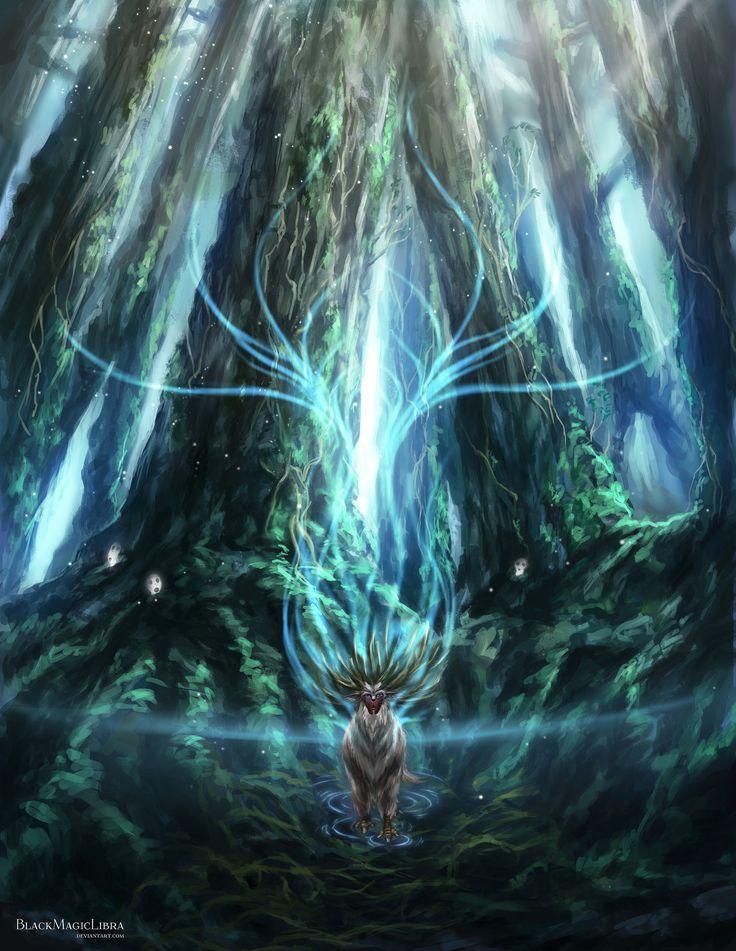 Princess Mononoke- Forest Spirit by BlackMagicLibra