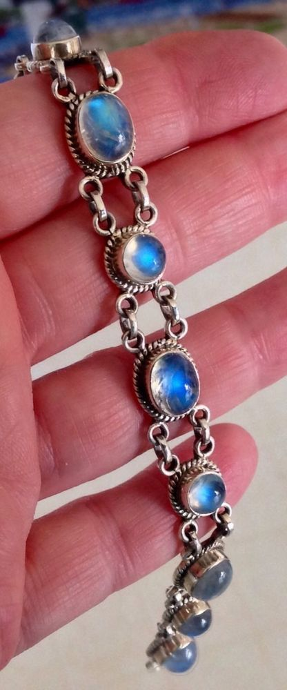 Nicky Butler Vintage Sterling Silver Rainbow Moonstone
