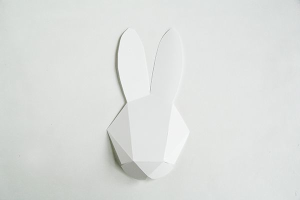 DIY Geo Bunny Head Tutorial with FREE Template
