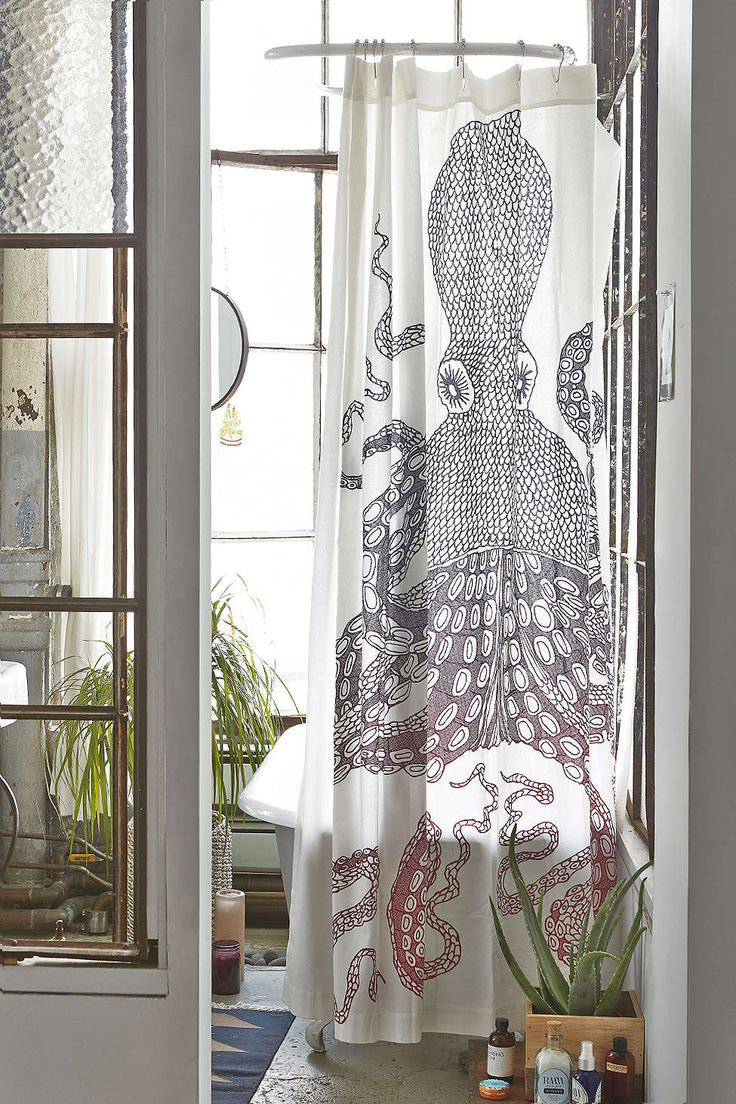 Octopus shower curtain cafe press - Nate Duval Giant Octopus Shower Curtain