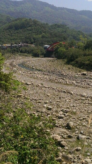 Jhonggang River, the face of drought in Taiwan.