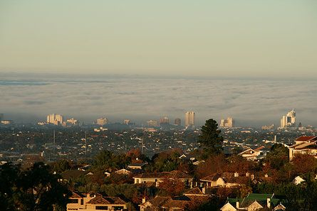 View from Cape Vermeer, Sea fog over False Bay | Hotel | Cape Town Accommodation | Luxury design suites