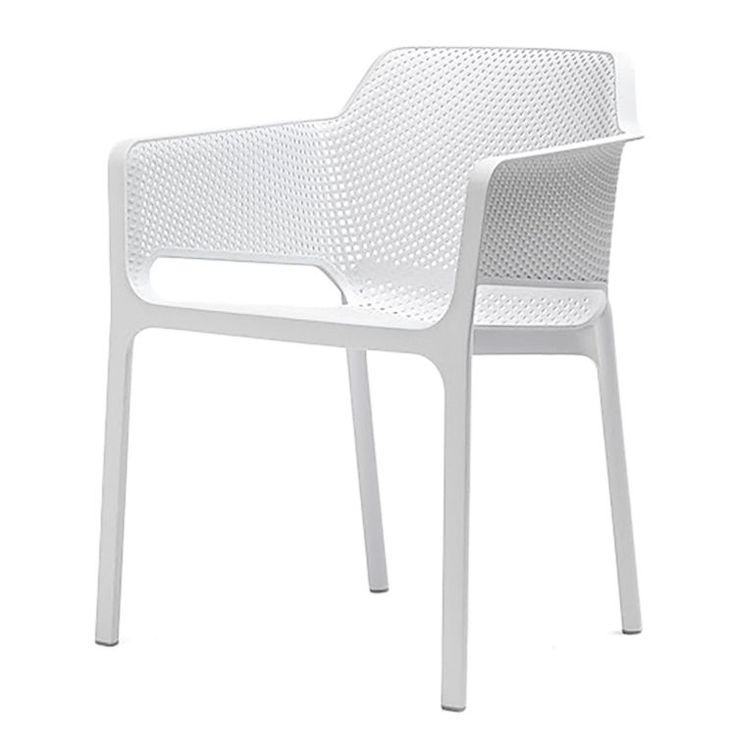 Gartensessel Ohio Plast - Kunststoff - Weiß, Best Freizeitmöbel