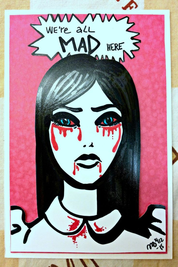 American McGee's Alice Madness Returns Fanart Singlesided Card by AnniCrafting on Etsy