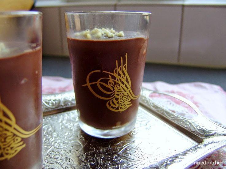 Supangle (Turkse chocoladepudding met gesmolten chocola)