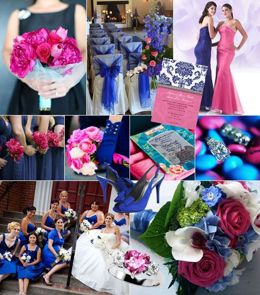 Royal Blue And Black Wedding Ideas: 17 Best Images About Pink And Royal Blue Wedding On