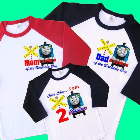 f80322d65 Thomas the Train Birthday Family Raglan Shirts by UrbanSmartWear | Second  bday | Thomas birthday parties, Thomas the train birthday party, Family  birthdays
