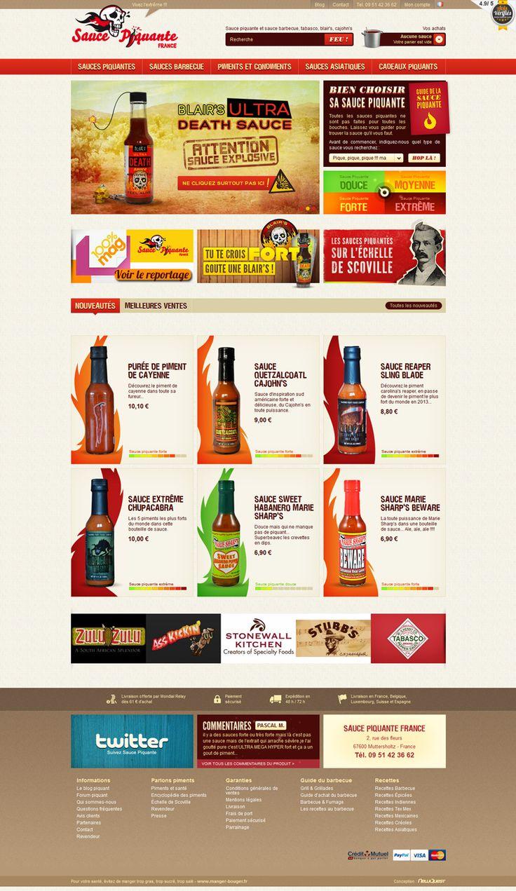 Site e-commerce : Sauce piquante