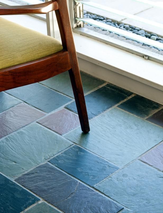 Slate floors...Midcentury Kitchen and Living Room Remodel : Interior Remodeling : HGTV Remodels
