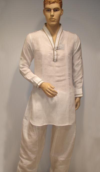 G3 Fashions White Linen Short Pathani Kurta Product Code : G3-MSP1003 Price : INR RS 3845