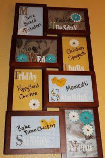 Curbstone Homestead: DIY Dry Erase Menu Board