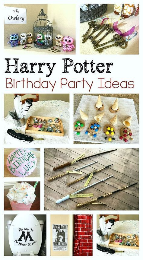Harry Potter Birthday Party Ideas for Kids: Birthday cake, wands, decorations, how to make a quill craft, and more! ~ http://BuggyandBuddy.com