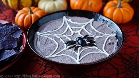 Food: Holiday, Recipe, Black Beans, Food Idea, Halloween Foods, Black Bean Hummus, Halloween Party, Blackbean