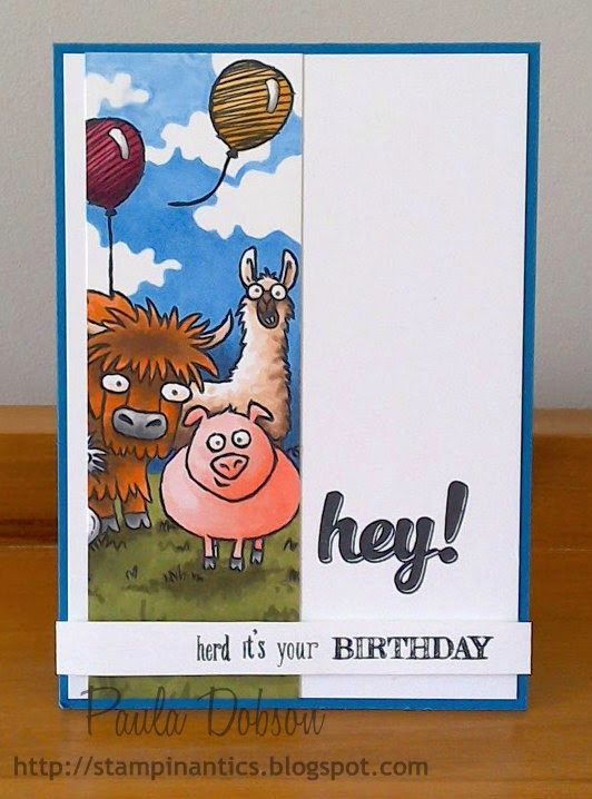 Super super cute! Using Stampin' Up!'s 'From the Herd' stamp set