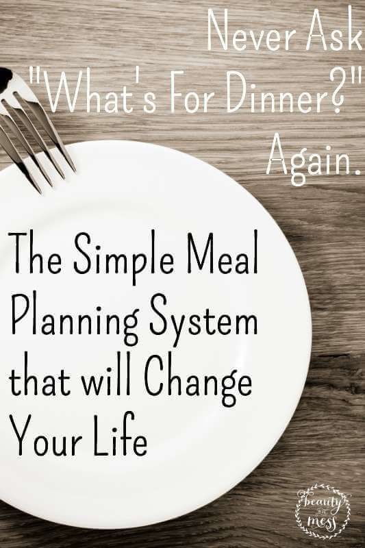 The Simple Meal Planning System that WILL Change Your Life.  I am no longer frustrated, stressed or wasteful. This method has saved my sanity and my budget. I am so happy to share it with all of you.