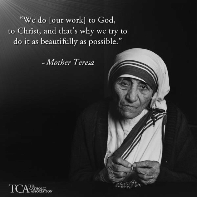 an analysis of the spirituality of mother teresa Filmmakers ann and jeanette petrie spent four years filming this very informative and moving documentary about mother teresa, who founded the missionaries of charity.