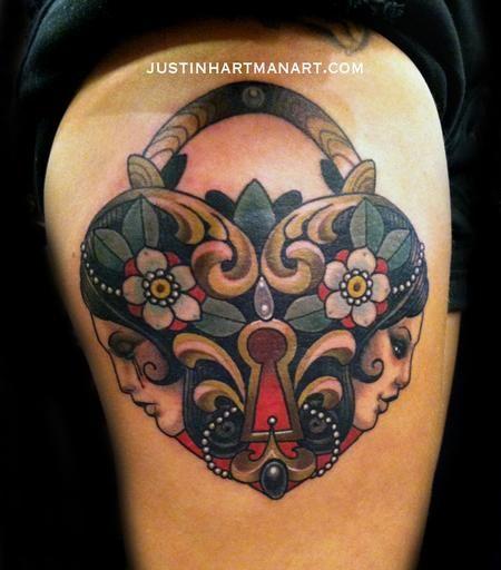 Tattoos - Locket of justin hartman