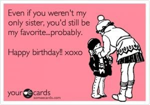 adorable funny sister birthday cards by ramona