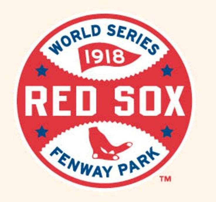 MLB World Series Logo Patches - 1918 Red Sox