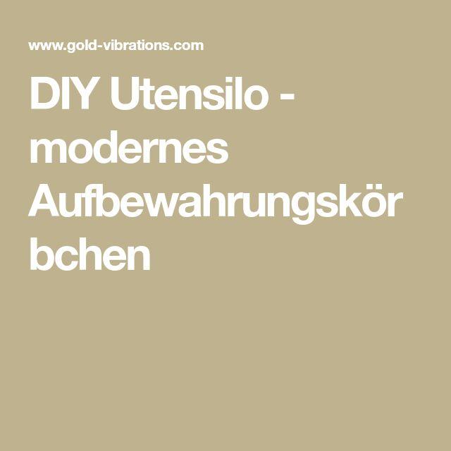 DIY Utensilo - modernes Aufbewahrungskörbchen