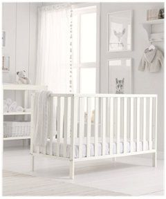 Apsley Cot - Fized sides and 3 position base http://www.parentideal.co.uk/mothercare--cots-cot-beds.html
