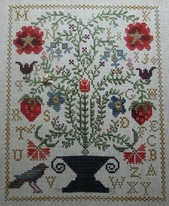 Strawberry Garden by Blackbird Designs | Cross Stitch