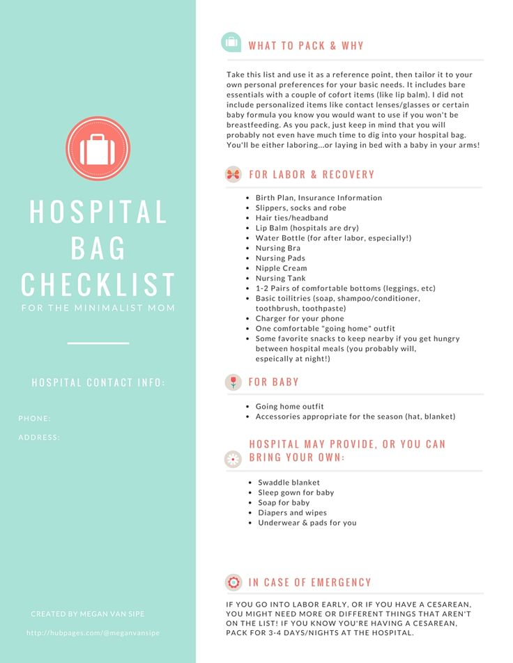 The  Best Hospital Bag For Mom To Be Ideas On