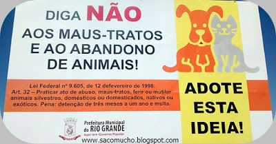 """""""Saco Mucho"""": Diga não aos maus-tratos de ANIMAIS!"""