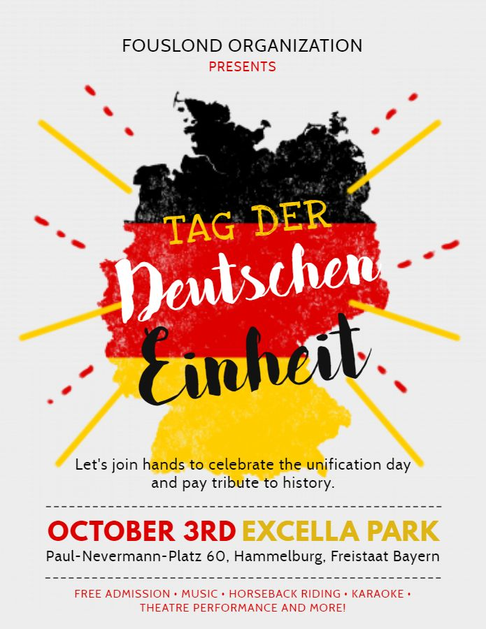 Creative German flag poster/flyer template | German Day Of Unity