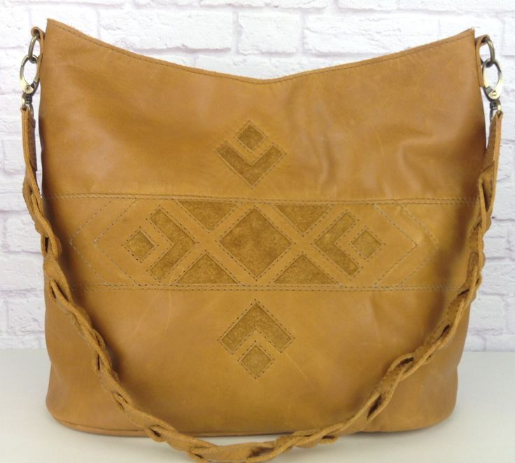 Brown leather hobo bag with braided shoulder strap. by wolfblossomleather on Etsy