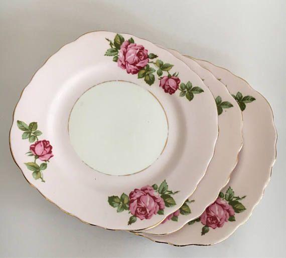 Vintage Colclough Plates Colclough Pink Side Plates Matching