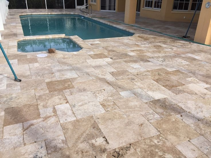 how to clean cream pavers