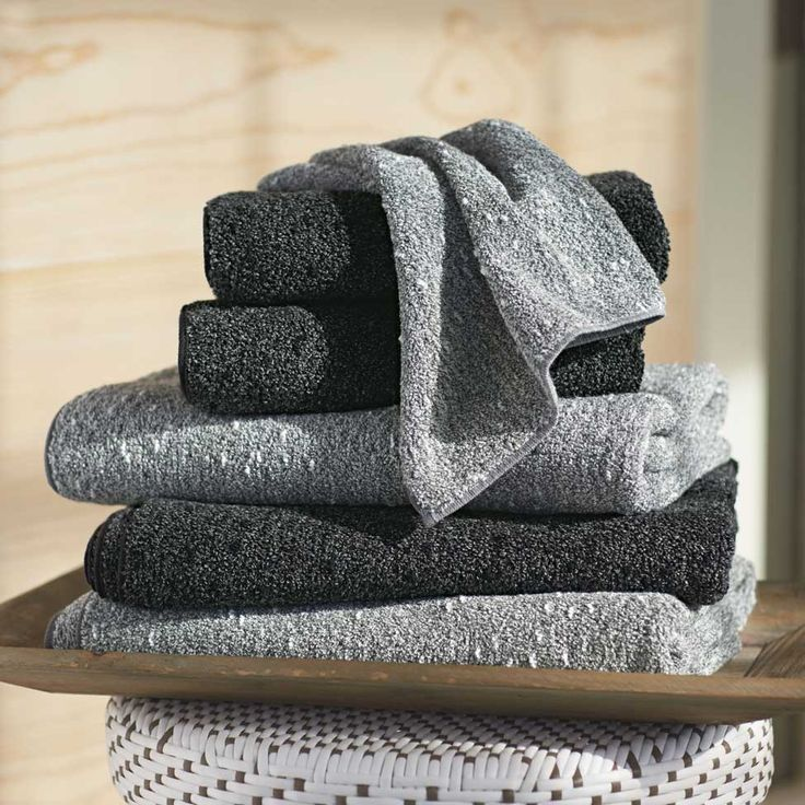Charcoal Bath Towel Collection Technology, Ivory and Natural