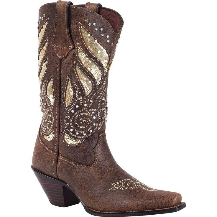 """12"""" Crush by Durango Western – Women's Leather Boots – Style #RD003 - Durango Boot Company  Sooo pretty"""