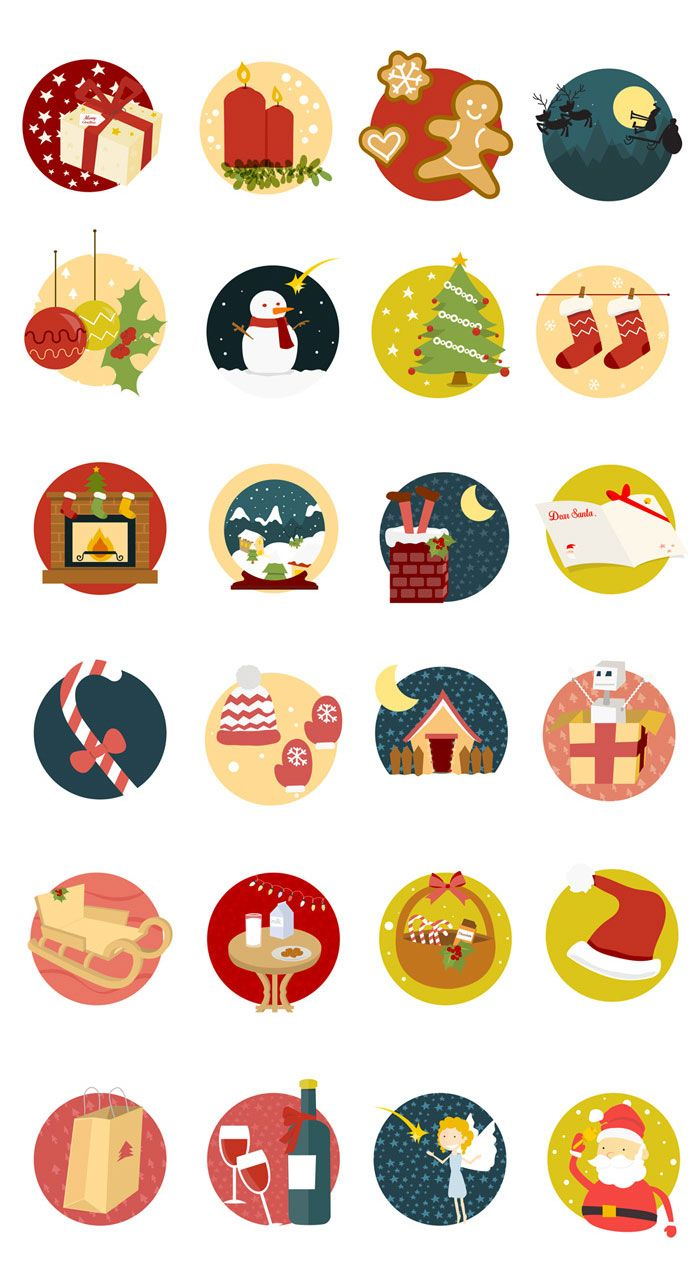 Christmas Icon Set by Manuela Langella