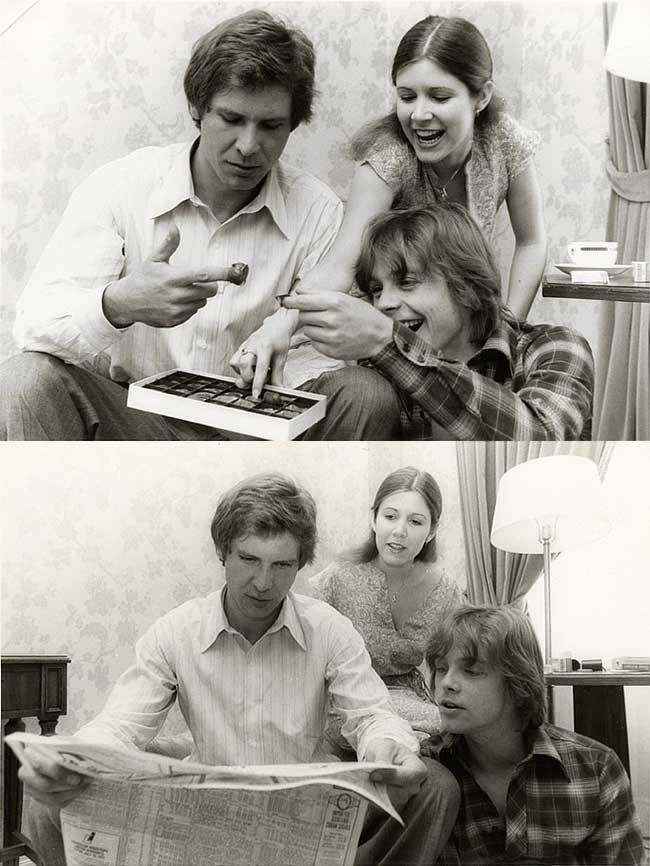 Harrison Ford, Carrie Fisher and Mark Hamill | Rare and beautiful celebrity photos