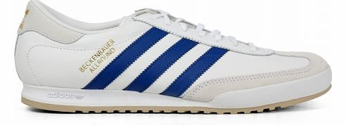 Adidas Beckenbauer White/Blue Leather Trainers Adidas Beckenbauer White/Blue Leather Trainers Colourway