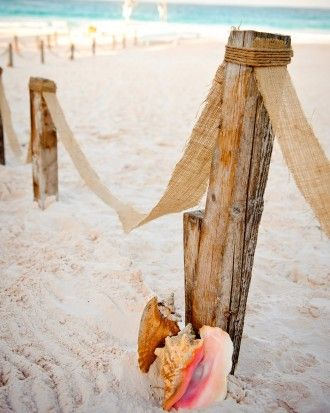 "See the ""Tropical Touches"" in our Real Weddings on the Beach gallery"