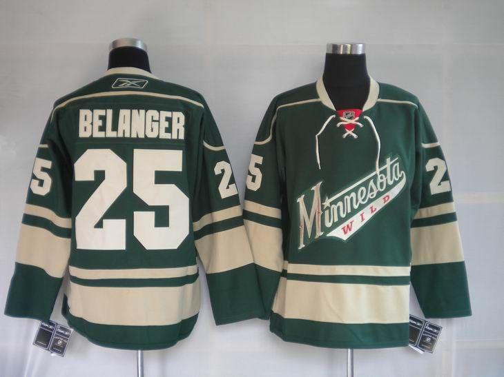 Minnesota Wild 25 Eric BELANGER Third Jersey Green