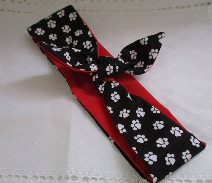 Rockabilly Hair Accessories, WIDE, Dog Paws, Pet Accessory, Bandana, Pin Up HeadBand, Rockabilly, Dread Wrap, Head Wrap by StitchesByAlida on Etsy