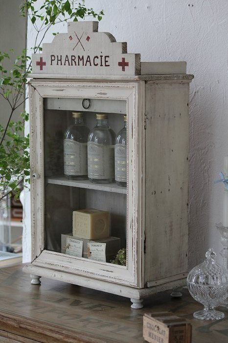 Vintage French apothecary cabinet.