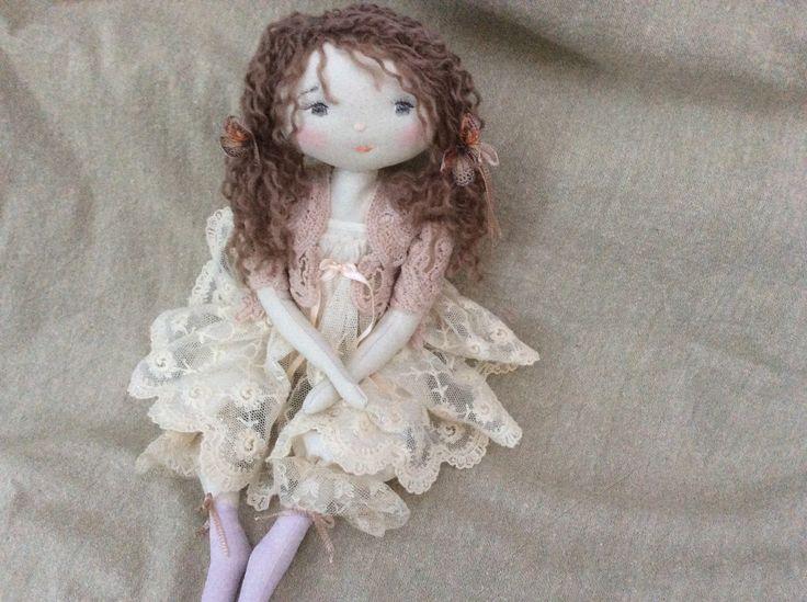 Manon robe de dentelles et gilet rose d lav 35cm le for Robes de jardin