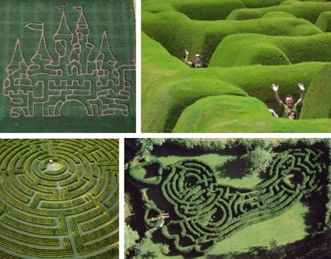 """15 of the Most Amazing Mazes and Labyrinths -- what a fun post this is to look at!  Would love to visit some of these...there's one here that """"was built in 1689 and is written about in novels and poems"""" and another in Hawaii that's the world's longest (also available online!) that has """"11,400 tropical native plants and covering 3.11 miles.""""  Well worth the click-through!!"""